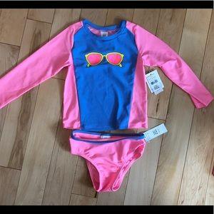 NWT Girls Baby Gap Swim Rash Guard 3T